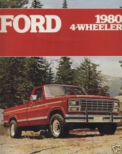 1980 FORD 4 WHEELER SALES BROCHURE BOOK TRUCK F 150 4x4