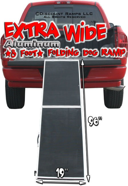 EXTRA WIDE FOLDING DOG RAMP ALUMINUM HUNTING RAMPS (DR 08XW)