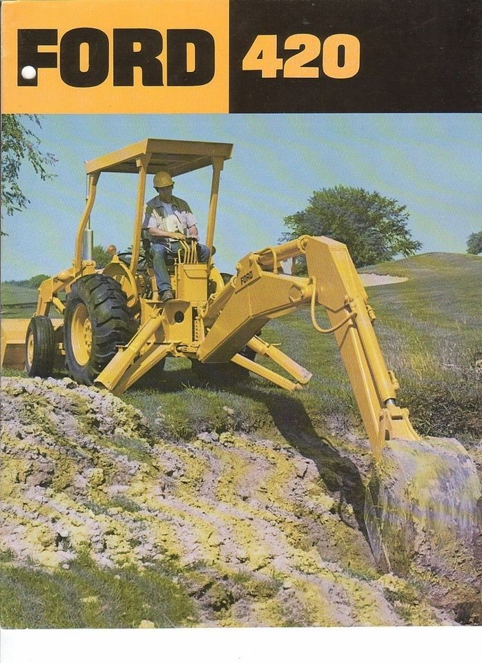 Equipment Brochure   Ford   420   Tractor Loader Backhoe c1977 (EB362)