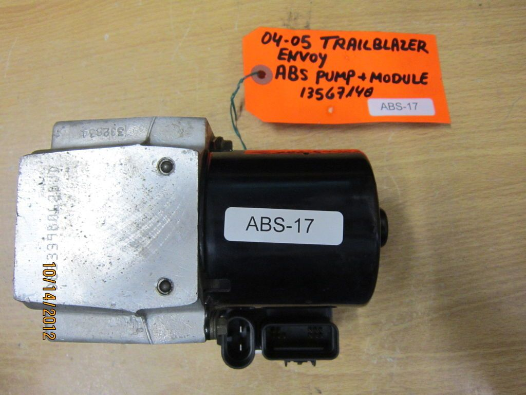 04 05 CHEVY TRAILBLAZER ENVOY ABS PUMP + MODULE #13567140 *see item