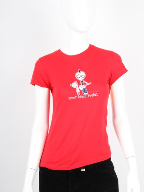 David Goliath Your Band Sucks Medium Ladies Red T Shirt