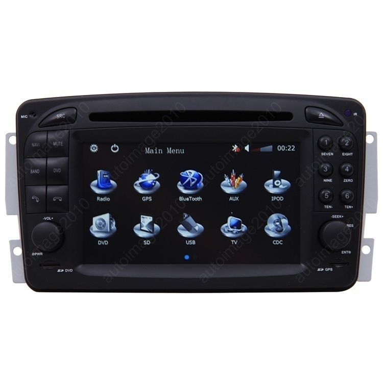 Car GPS Navigation 2 DIN TFT TV DVD Radio for 1998 02 Mercedes Benz E