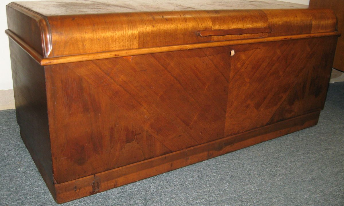 ORIGINAL ANTIQUE ~ LANE ~ ART DECO WATERFALL CEDAR CHEST BLANKET CHEST
