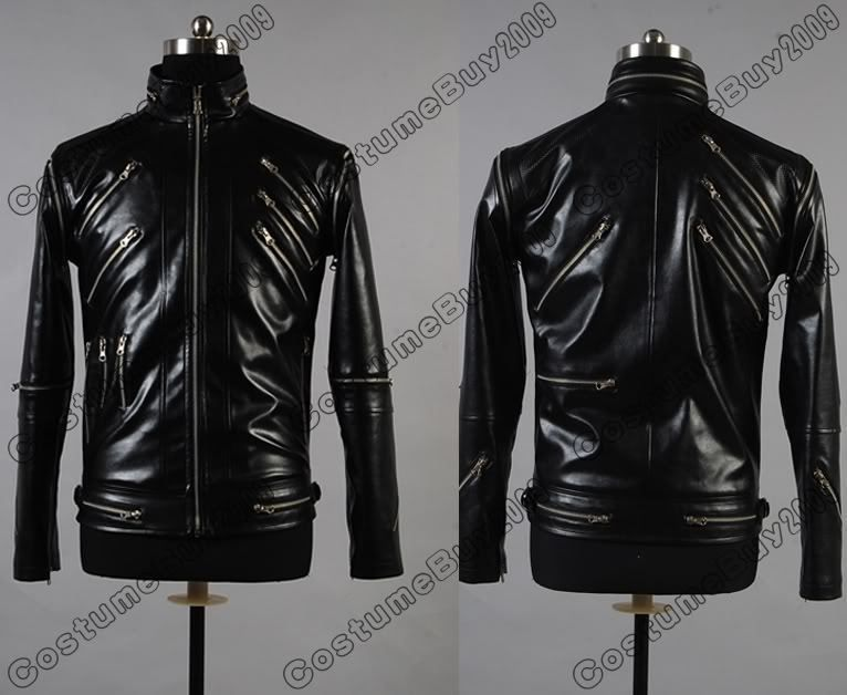 Michael Jackson Beat It Black Pleather Jacket Costume