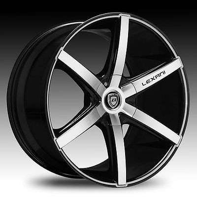 20 22 Wheels Tires Lexani R 6 Six Black Mach Cadillac CTS DTS STS