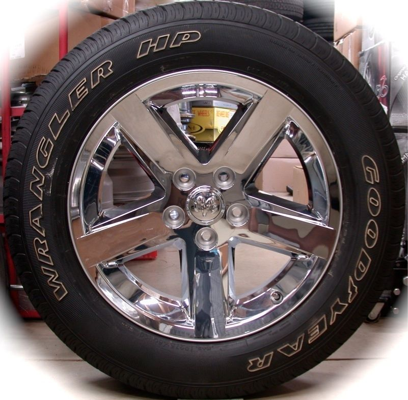 Ram 1500 Chrome 20 Factory OEM Wheels Rims Tires 2002 2013 Free Ship
