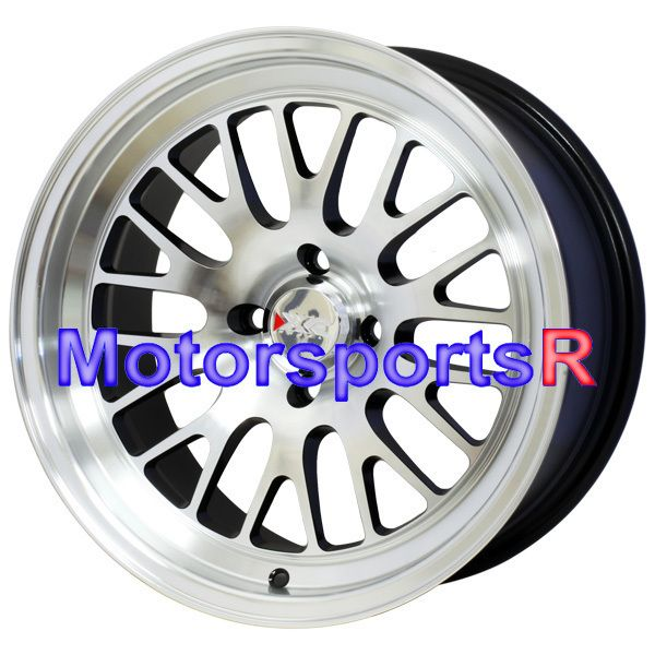 XXR 531 Machine Black Wheels Rims Deep Dish 4x114 3 Stance 97 Acura CL
