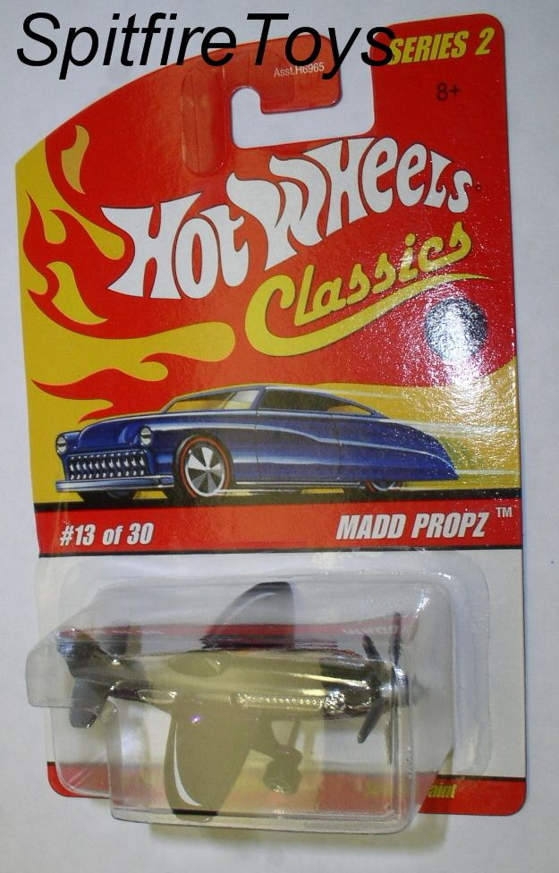 HOT WHEELS CLASSICS SERIES 2 13 MADD PROPZ AIRPLANE PURPLE NO HANDLING