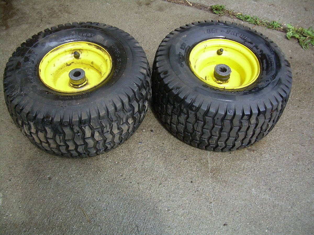 John Deere 102 Front Tires and Rims 15x6 6